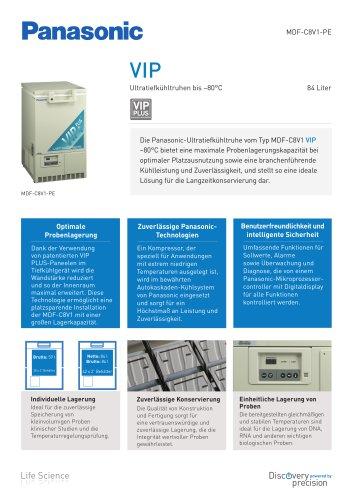 MDF-C8V1 VIP Ultratiefkühltruhen bis –80 °C