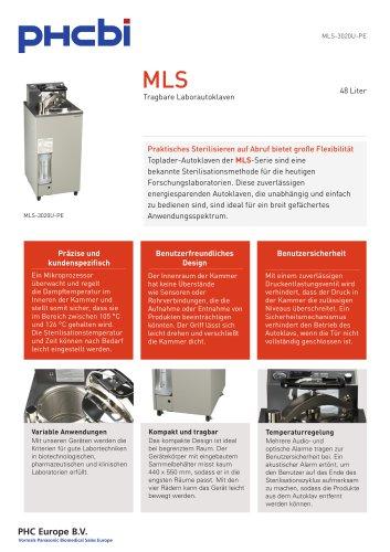MLS-3020U-PE Tragbare Laborautoklave