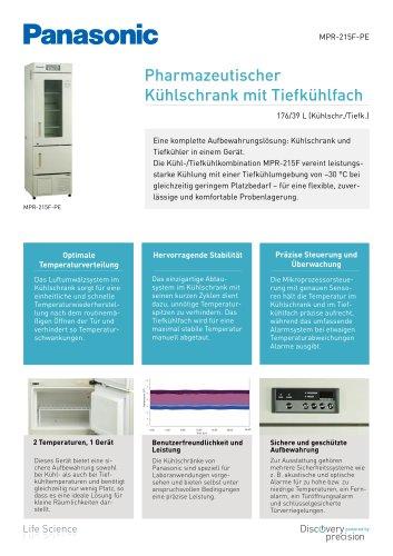 MPR-215F Pharmazeutischer Kühlschrank mit Tiefkühlfach