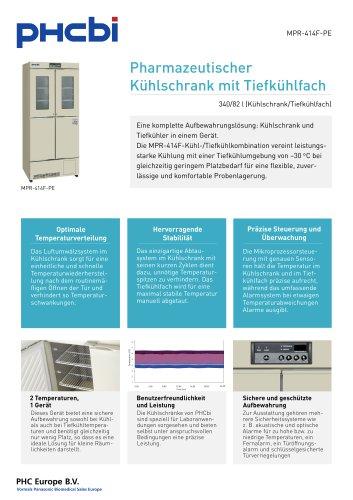 MPR-414F-PE Pharmazeutischer Kühlschrank mit Tiefkühlfach