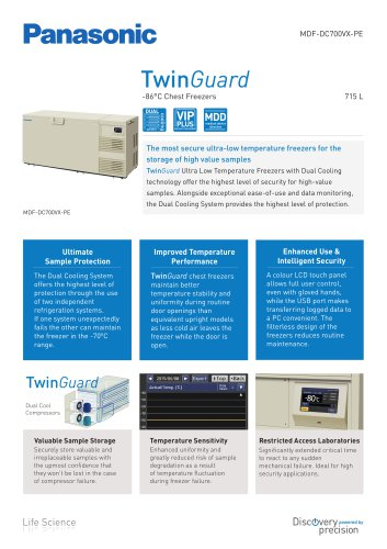 TwinGuard ULT Chest Freezer MDF-DC700VX