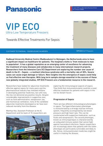 VIP ECO ULT Freezers Customer Testimonial - Towards Effective Treatments For Sepsis, Radboudumc Nijmegen, NL