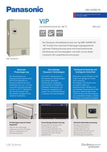 VIP Ultratiefkühlschrank bis –86°C MDF-DU900V-PE