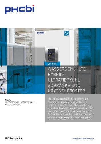 Wassergekühlte Hybrid Tiefkühlschränke