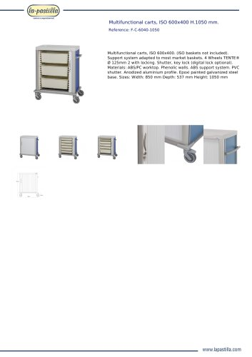 MULTIFUNCTIONAL CARTS, ISO 600X400 H.1050 MM.