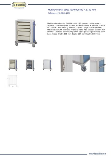 MULTIFUNCTIONAL CARTS, ISO 600X400 H.1150 MM.