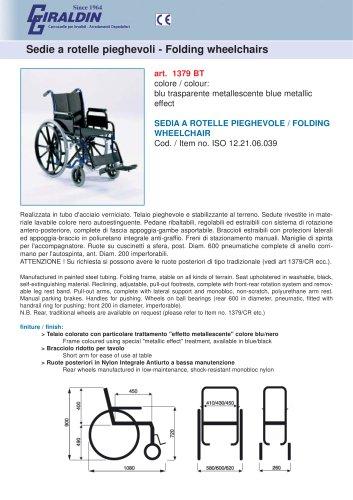 Folding wheelchairs 1379 BT