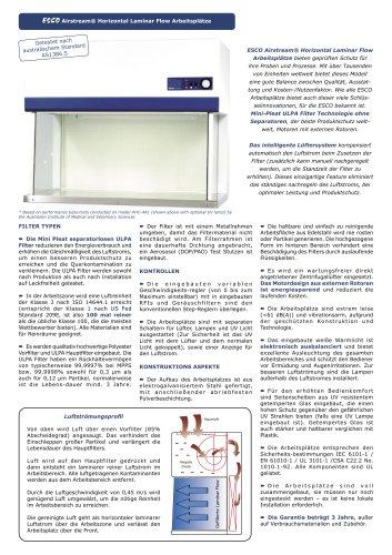 Airstream® Horizontal Laminar Flow Clean Benches