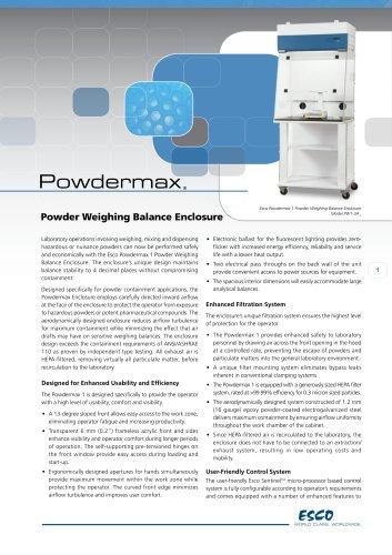 Powdermax - Powder Weighing Balance Enclosure