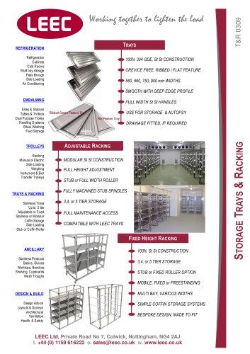Body Storage Trays
