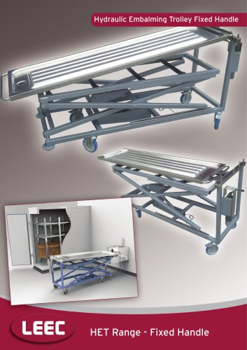 Fixed Height Handled Hydraulic Embalming Trolley