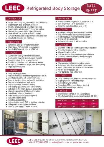 Refrigerated Body Storage