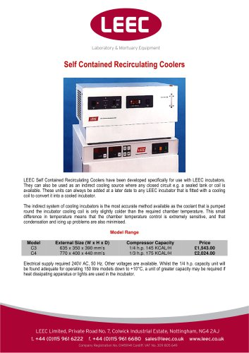 Self Contained Recirculating Coolers