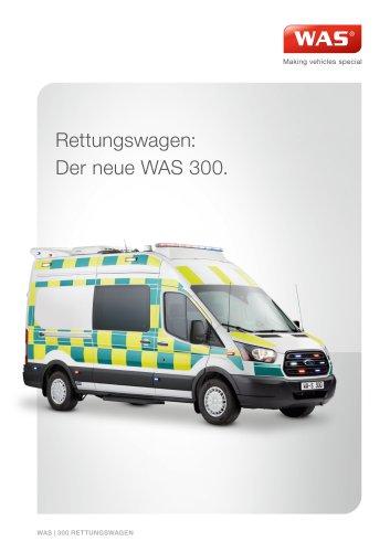 WAS 300 Rettungswagen RTW Ford Transit Kastenwagen 4,3 T
