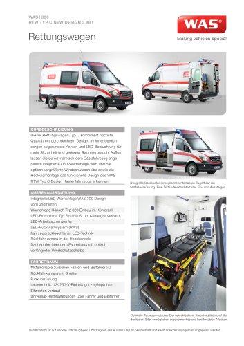 WAS 300 Rettungswagen RTW Mercedes-Benz Sprinter Kastenwagen Typ C 3,88 T