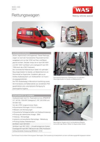 WAS 300 Rettungswagen RTW Renault Master Kastenwagen 3,5 T