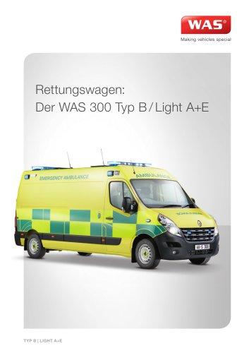 WAS 300 Rettungswagen RTW Renault Master Kastenwagen Typ B/Light A+E 3,5 T