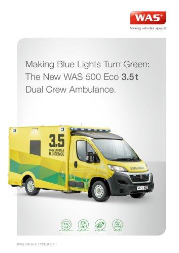 WAS 500 Emergency Ambulance Fiat Ducato Box Body A+E Type B 3.5 T