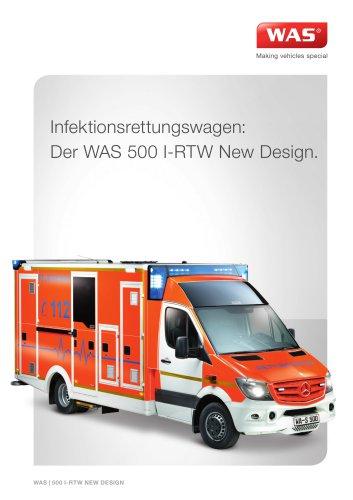 WAS 500 Infektionsrettungswagen I-RTW Mercedes-Benz Sprinter Kofferaufbau 5 T