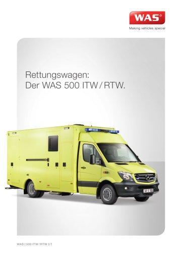 WAS 500 Intensivrettungswagen RTW/ITW Mercedes-Benz Sprinter Kofferaufbau 5 T