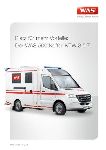 WAS 500 Krankentransportwagen KTW Mercedes-Benz Sprinter Kofferaufbau 3,5 T