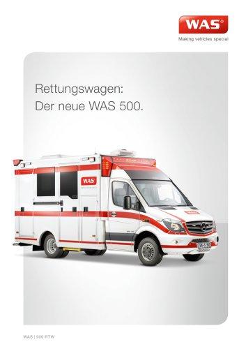 WAS 500 Rettungswagen Mercedes-Benz Sprinter Kofferaufbau Typ III 5 T