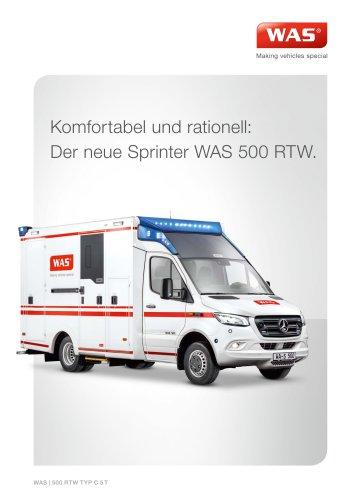 WAS 500 Rettungswagen RTW Mercedes-Benz Sprinter Kofferaufbau 5 T