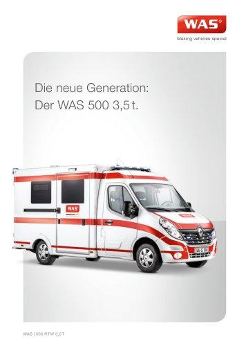 WAS 500 Rettungswagen RTW Renault Master Kofferaufbau 3,5 T