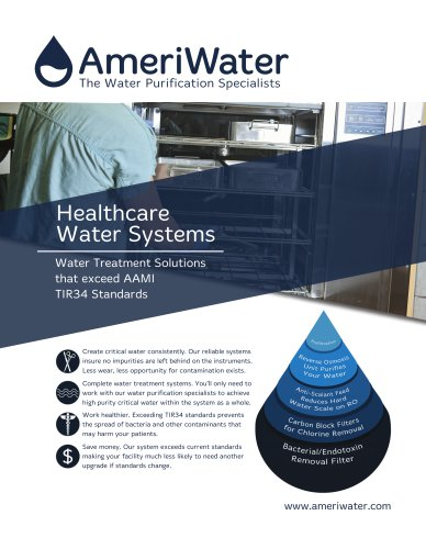 AmeriWater AAMI Compliant Healthcare Water Solutions