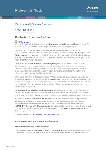 Centurion® Vision System
