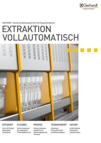 Automatische Extraktionsgeräte SOXTHERM