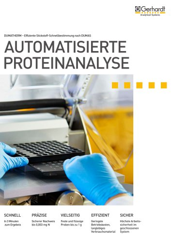 Automatisierte Proteianalyse