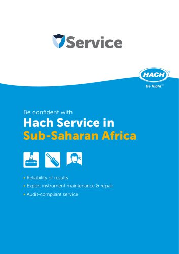 Be confident with Hach Service in Sub-Saharan Africa