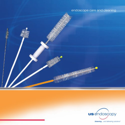 Double-Header combination cleaning brush - endoscopy