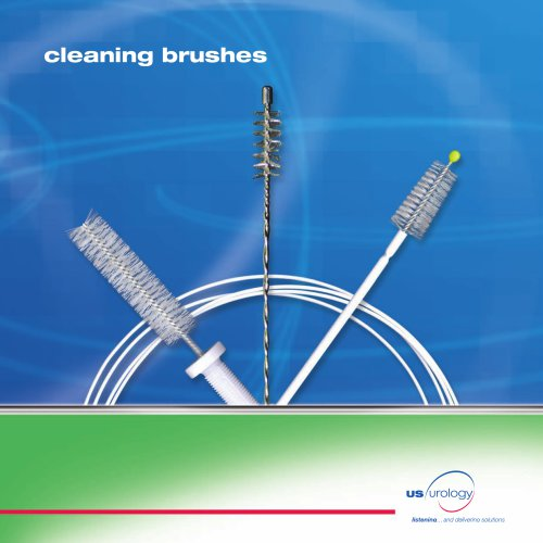 Double-Header combination cleaning brush - urology
