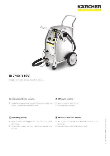 DRY ICE BLASTER IB 7/40 (110V)
