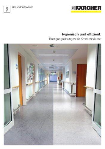 Hygienisch und effizient. Reinigungslösungen für Krankenhäuser