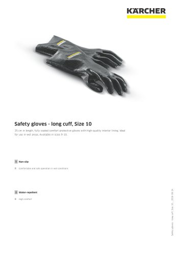 Safety gloves - long cuff, Size 10