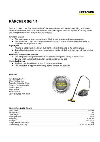 SG 4/4 Steam Cleaner