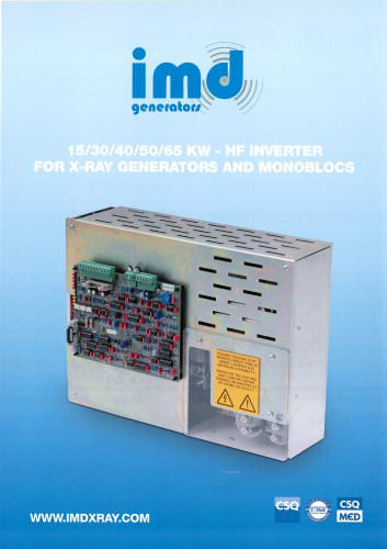 15/30/40/50/65 KW - HF INVERTER FOR X-RAY GENERATORS AND MONOBLOCS