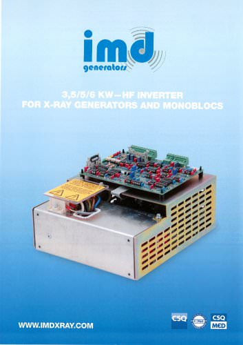 3,5/5/6 KW-HF INVERTER FOR X-RAY GENERATORS AND MONOBLOCS