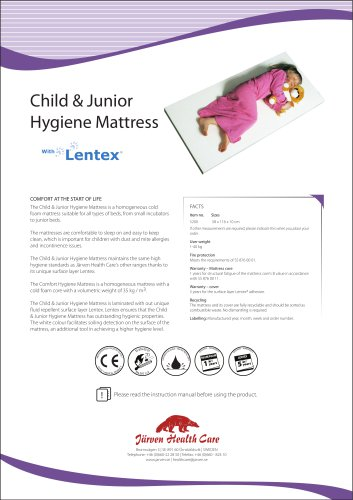Child & Junior Mattress - Hygiene Mattress with Lentex®