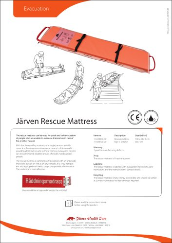 Rescue Mattress - for safe and fast evacuation