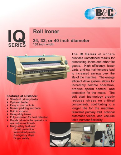 IQ SERIES Roll Ironer
